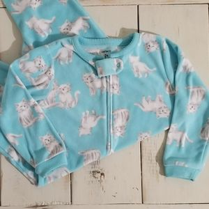 Carter's Cat Footie Pajamas